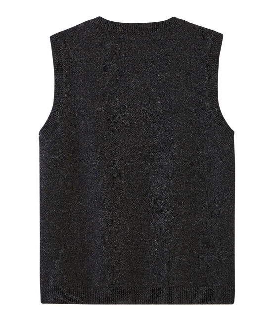 Boys' Sleeveless Pullover Subway grey / Multico white