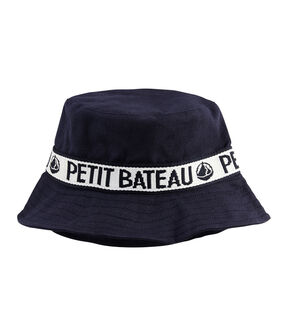 Twill bucket hat Smoking blue