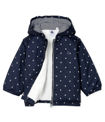 Unisex Baby's Fleece-Lined Jacket Smoking blue / Marshmallow white