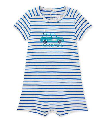Baby boy's sailor romper