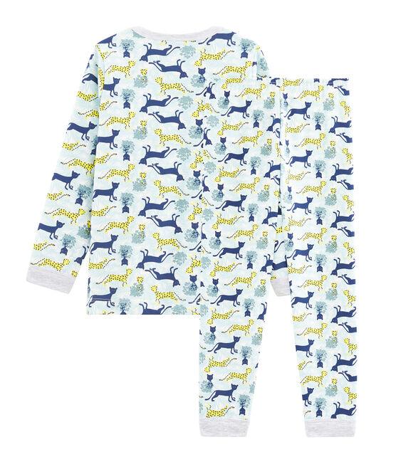 Boys' Fleece Pyjamas Marshmallow white / Multico white