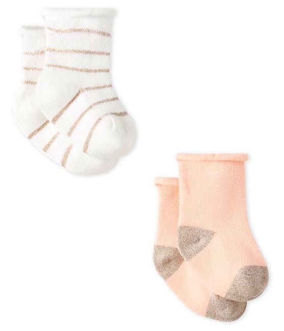 Baby Girls' Light Socks - 2-Piece Set . set
