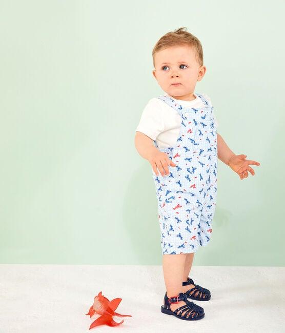 Baby Boys' Printed Short Dungarees Marshmallow white / Multico white