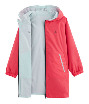 Unisex Children's Warm Reversible Windbreaker Groseiller pink / Crystal blue