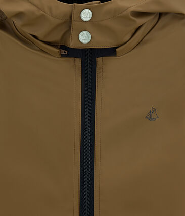 Warm raincoat with sweatshirt lining