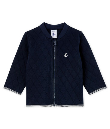 Baby Boys' Quilted Tube Knit Cardigan Smoking Cn blue