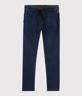 Boys' Denim Trousers Denim Bleu Fonce blue