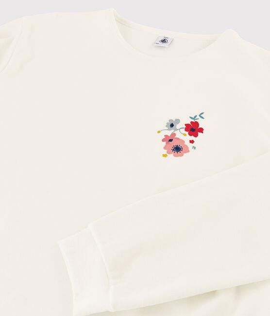 Girls' Velour Pyjamas MARSHMALLOW/BRUME