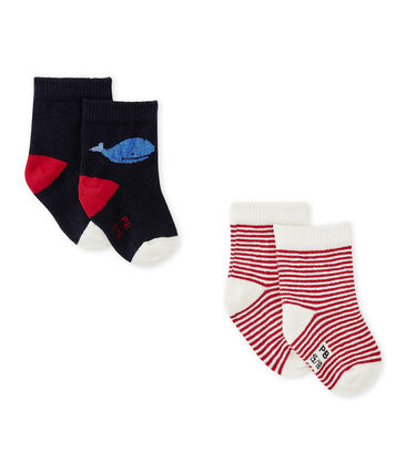 Set of 2 pairs of baby boy's socks