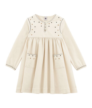 Girl's long sleeved dress with embroidery