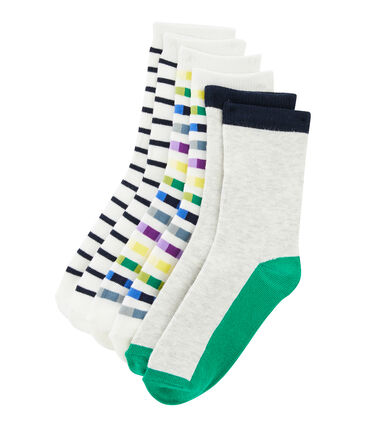 Set of 3 pairs of socks for boys . set