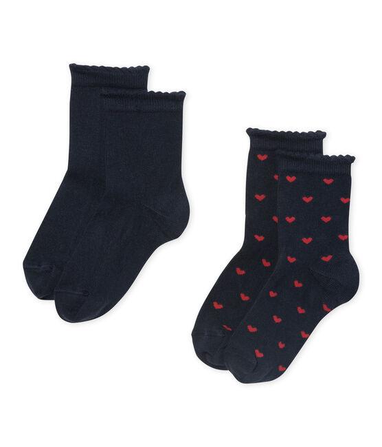 Set of 2 pairs of girl's socks . set