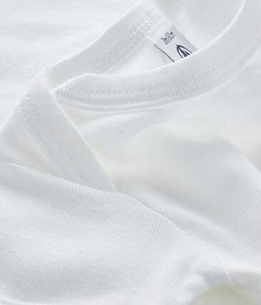Babies' short-sleeved bodysuit Ecume white