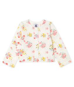 Baby Girl's Printed Cardigan Marshmallow white / Multico white