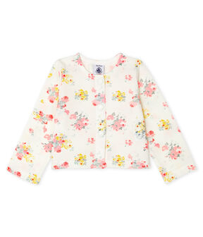 Baby Girls' Print Cardigan Marshmallow white / Multico white