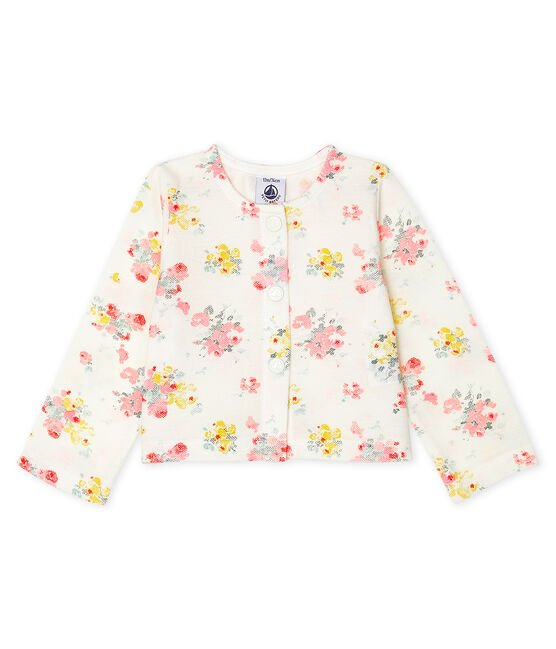 Baby Girls' Print Cardigan Marshmallow white / Multico white