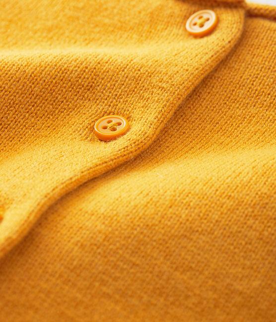 Baby girl's long-sleeved cardigan Boudor yellow