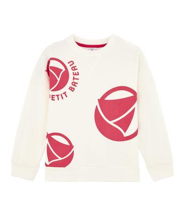 Girl - Boy's Sweatshirt Marshmallow white / Geisha pink