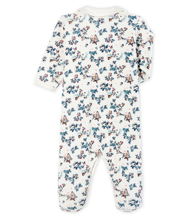 Baby Girls' Cotton Sleepsuit Marshmallow white / Multico white