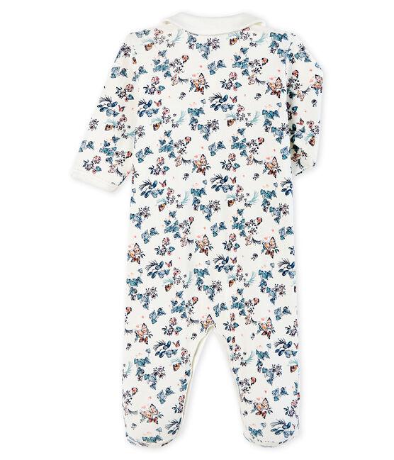 Baby Girls' Cotton Sleepsuit Marshmallow white / Multico white