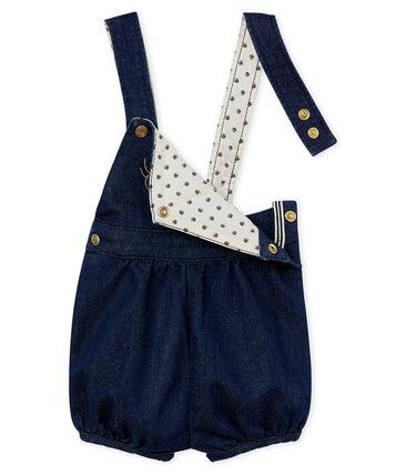 Baby girls' jersey short dungarees