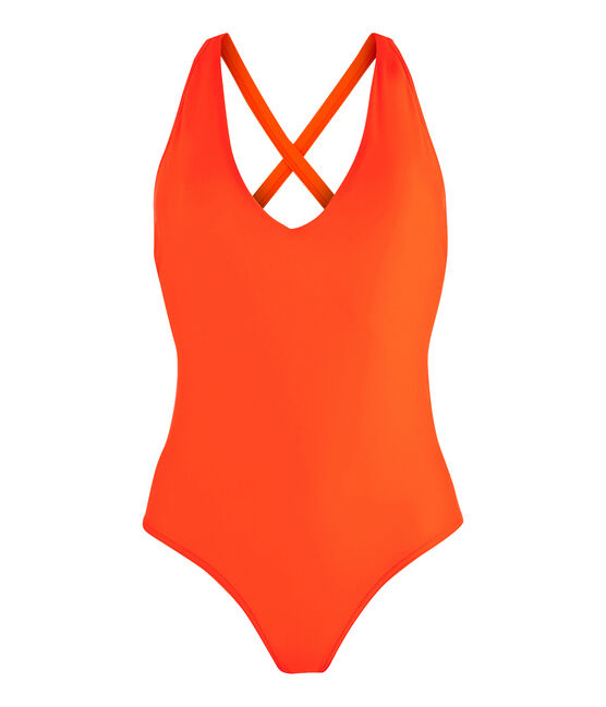 Women's Eco-Friendly Swimsuit Tiger orange