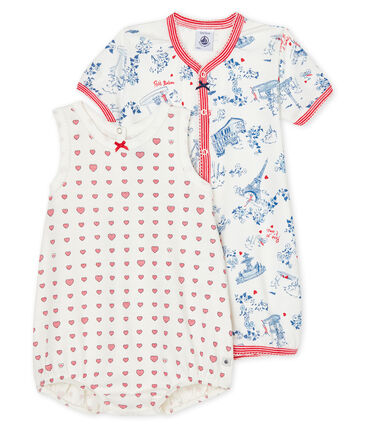 Baby Girls' Ribbed Playsuit - 2-Pack . set