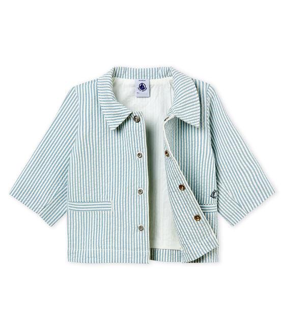 Baby boys' striped jacket Fontaine blue / Marshmallow white