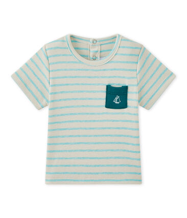 Baby boy's striped short-sleeved T-shirt