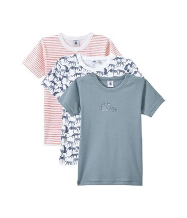 Set of 3 boys' short-sleeved t-shirts