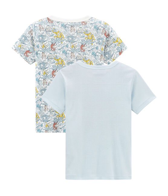 Boys' Short-sleeved T-shirt in Cotton - Set of 2 . set