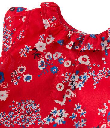 Robe bébé fille imprimée Peps red / Multico white
