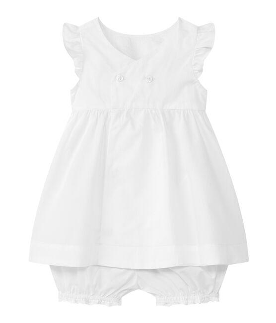 Baby girl 2 piece set Ecume white