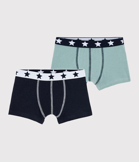 Boys' Organic Cotton and Elastane Boxer Shorts - 5-Pack . set