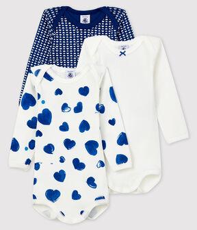 Baby long-sleeved bodysuit - Set of 3 . set