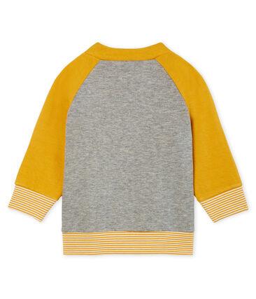 Baby Boys' Zip-Up Tube Knit Cardigan Subway grey / Boudor yellow