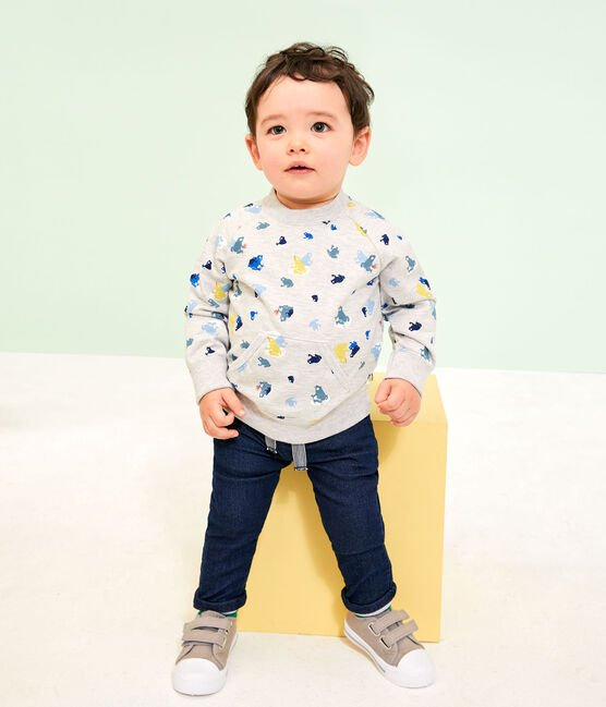 Baby Boys' Print Sweatshirt Beluga grey / Multico white