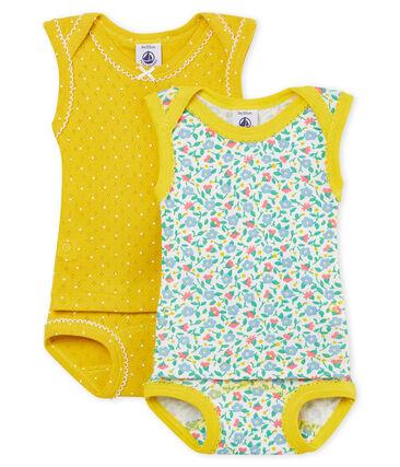 Baby Girls' 2-in-1 Underwear/Bodysuit - Set of 2