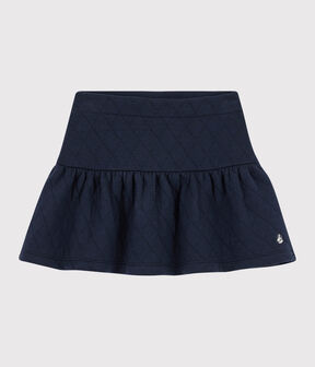 Girls' Quilted Tube Knit Skirt Smoking blue