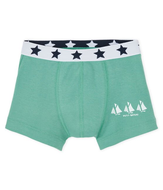 Boys' boxer shorts Aloevera green
