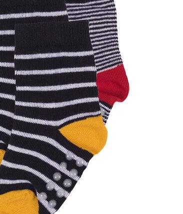 Baby Boys' Socks - 2-Piece Set Marshmallow white / Smoking blue