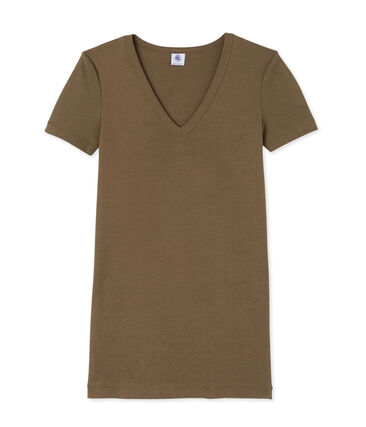 Women's original rib V-neck T-shirt