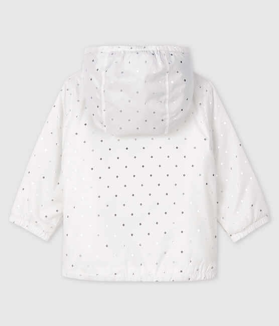 Unisex baby's blouse with print Marshmallow white / Argent grey