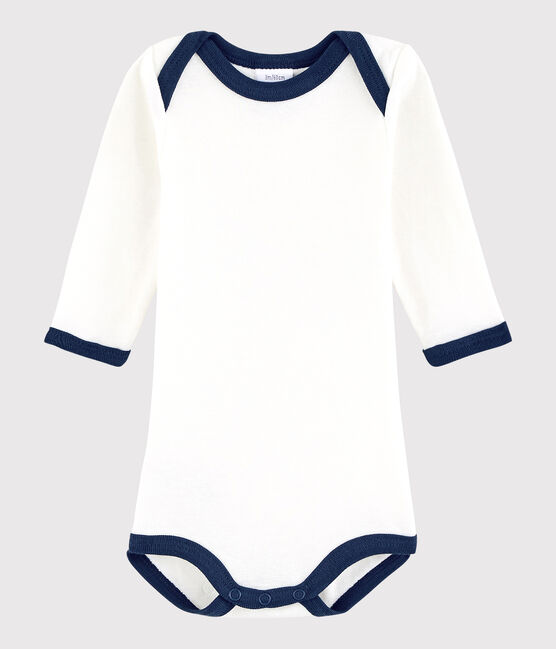 Unisex Babies' Long-Sleeved Bodysuit Marshmallow white