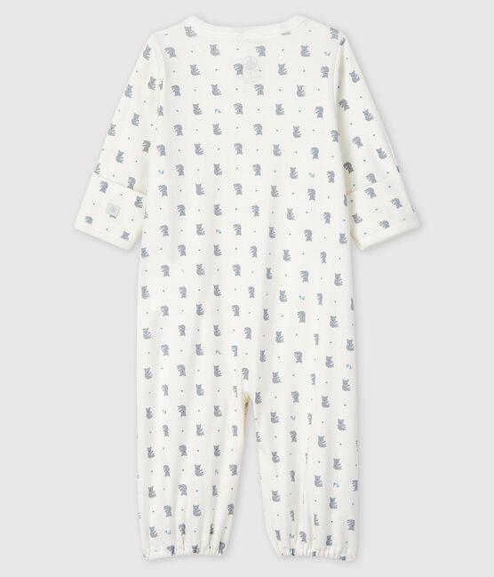 Baby Boys' Ribbed Koala Print Jumpsuit/Sleeping Bag Marshmallow white / Multico white