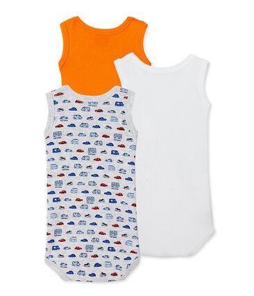 Pack of 3 baby boy sleeveless bodysuits