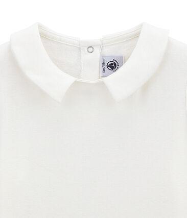Girl's tee-shirtwith Peter Pan collar