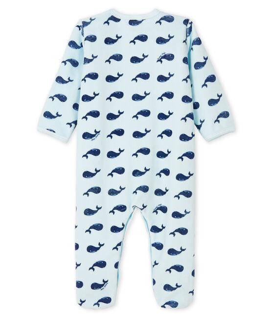 Baby Boys' Velour Whale Sleepsuit