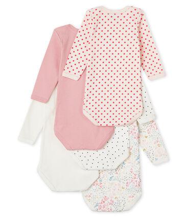 Baby Girls' Long-Sleeved Bodysuit - 5-Piece Set
