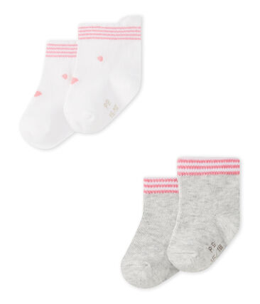 Set of 2 pairs of unisex baby's socks . set